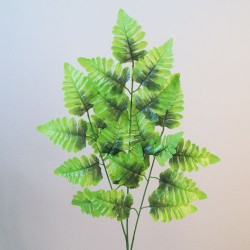 Budget Artificial Leather Fern Stem Bright Green - LEA003 H4