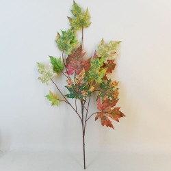 Artificial Maple Leaves Branch Red Green - MAP002 EE3