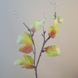 Artificial Maple Leaves Branch Green and Bronze Lustre - MAP012 I4