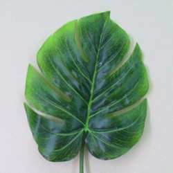 Artificial Monstera Leaves with Raindrops - MON001