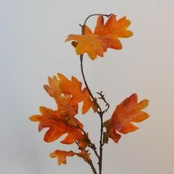 Artificial Oak Leaves Branch Orange - OAK015 EE1