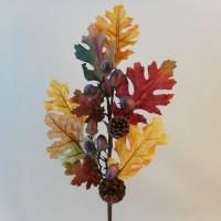 Artificial Oak Leaves Branch Autumn - OAK002 I1