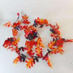 Fleur Artificial Oak Leaves Garlands Red - OAK001 BB2