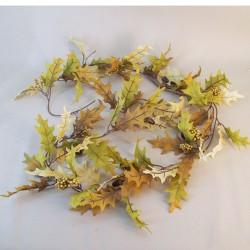 Artificial Oak Leaves Garlands with Acorns - OAK011 AA2