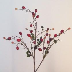 Artificial Rosehips Branch - R657 M4
