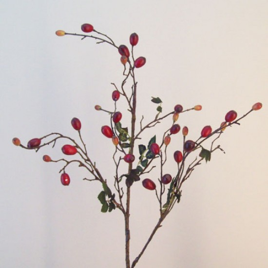 Artificial Rosehips Branch - R657 M4
