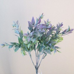 Artificial Ruscus Plants Green Grey and Lavender 29cm - RUS003 P2