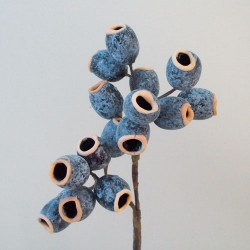 Artificial Seed Pods Stem Blue - S127 S2