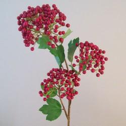 Artificial Viburnum Berries Stem Red - V033 R1