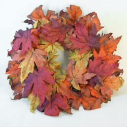 Autumn Hessian Maple Leaves Wreath - MAP015 CC-DD