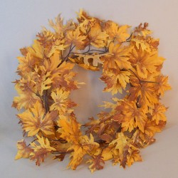Autumn Maple Leaves Wreath with Glitter - MAP014