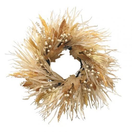 Autumn Foliage Wreath Dried and Artificial Mix 50cm - AUT006 DD1