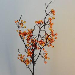 Artificial Autumn Berries Branch Orange Yellow - BER017 C1