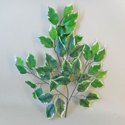 Budget Artificial Ficus Leaves Variegated - FIC005 D2