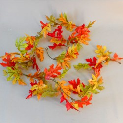 Fleur Artificial Oak Leaves Garlands Orange - OAK013 EE2