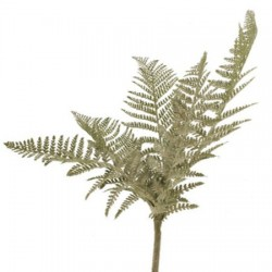 Large Artificial Leather Fern Plant Flocked Green 88cm - LEA004 BX7