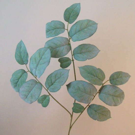 Flocked Artificial Salal Leaves Spray - SAL002 Q3