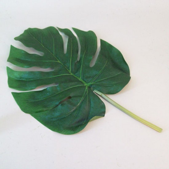 Large Artificial Monstera Leaves Short Stem - MON004 K3