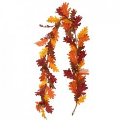 Artificial Oak Leaves Garlands with Acorns 180cm - OAK013
