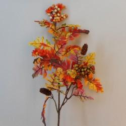 Artificial Oak Leaves and Berries Branch 83cm - OAK014 II2