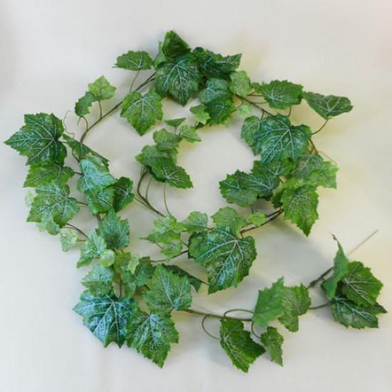 Outdoor Artificial Grape Leaves Garland Rain Resistant 180cm  - GRA020