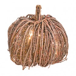 Twig Ornamental Pumpkin with Lights Large 30cm - PUM011