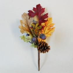Artificial Oak Leaves Branch Autumn Small - OAK008 FF2