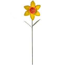 Metal Daffodil Stake Yellow - MET007