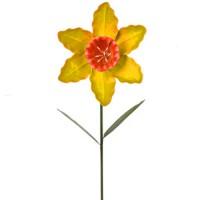 Metal Daffodil Stake Yellow - MET007