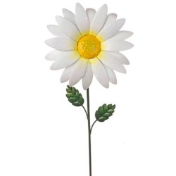 Metal Daisy Stake Small White - MET010