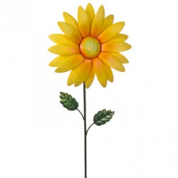Metal Daisy Stake Small Yellow - MET009