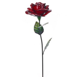 Metal Rose Stake Small Red - MET005