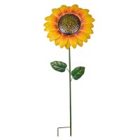 Metal Sunflower Stake Yellow - MET004
