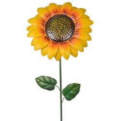 Metal Sunflower Stake Yellow - MET004