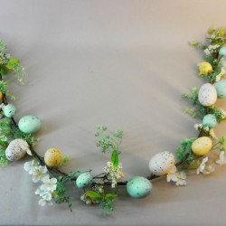 Easter Eggs and Flowers Garland 145cm  - EAS012