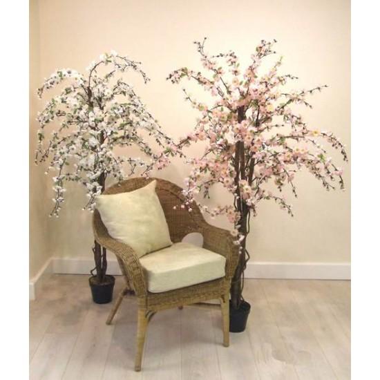 5' Artificial Cherry Tree White - CHE001a