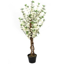 4' Artificial Cherry Tree Cream - CHE005