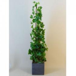 Potted Artificial Ivy Plant Obelisk in Slate Grey Pot 90cm - IVY056 OFF