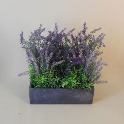 Artificial Plants Lavender in Slate Trough - LAV015 FR