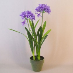 Artificial Agapanthus Plant Purple - AGA008 4B