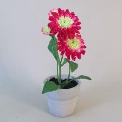 Artificial Plants Daisy Pomponette Dark Pink - POM002 3B