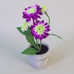Artificial Plants Daisy Pomponette Magenta Pink - POM001 3B