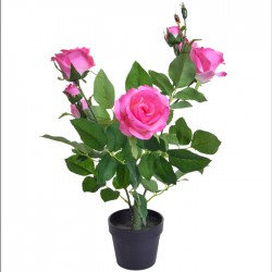 Potted Plants Artificial Rose Tree Pink - ROS007