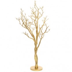 Gold Glitter Manzanita Wishing Tree on Round Base 120cm - MAN004