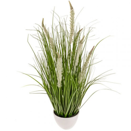 Artificial Plants Potted Grass and Cattails Cream - GRA024 OFF