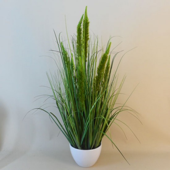 Artificial Plants Potted Grass and Cattails Green - GRA023 6C