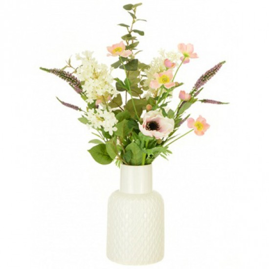 Artificial Flower Arrangement | Anemone and Lilac - ANE001 2C