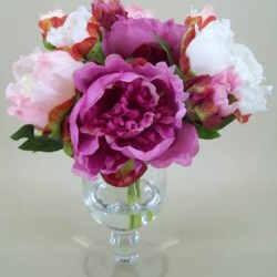 Peony Artificial Flower Arrangement Pink - PEV002 6C