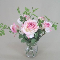 Pink Roses Artificial Flower Arrangement - ROS004 2B