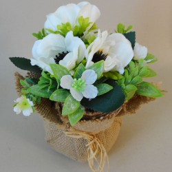 Anemone Flower Arrangement White - ANE002 1D